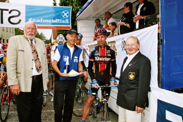 Jens Lehmann am Start beim Pfingstradrennen 2004